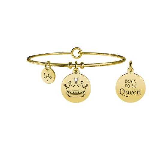 Bracciale Kidult in acciaio dorato con Corona