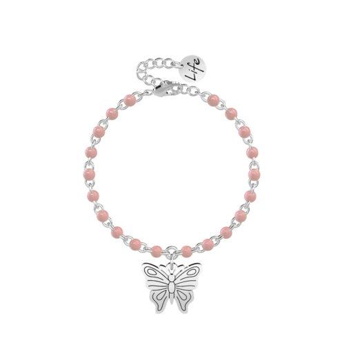 Bracciale Kidult Rosa con Farfalla 731832