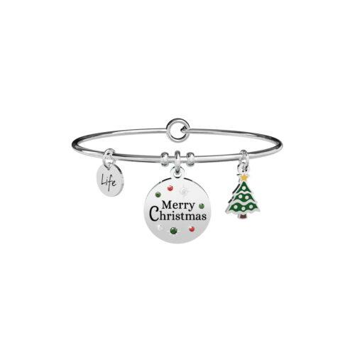 Buon Natale Bracciale Kidult Albero di Natale Cristalli Colorati