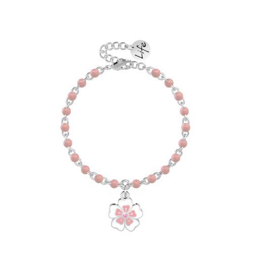 Bracciale Rosa con Fiore di Ciliegio Kidult 731834