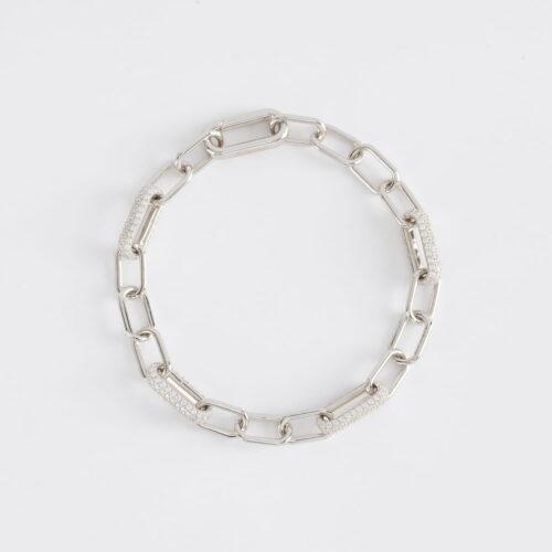 Bracciale Mabina in argento e zirconi