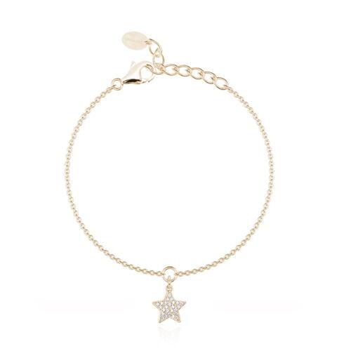 Bracciale Mabina con stella in argento dorato
