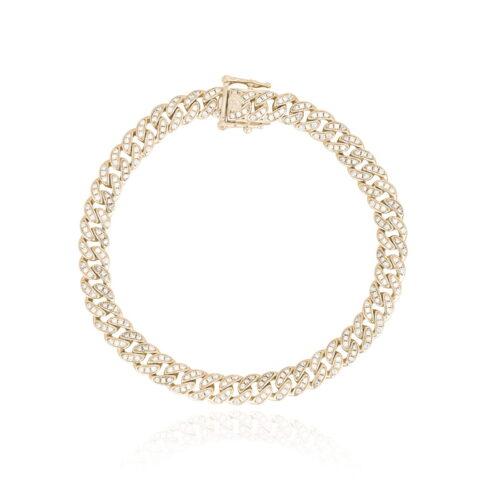 Bracciale Mabina grumetta in argento dorato con zirconi