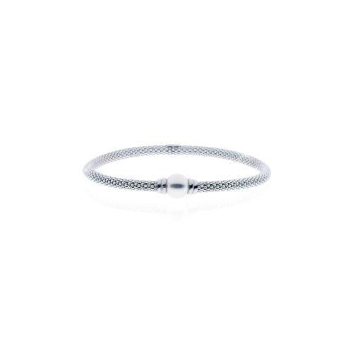 Bracciale con perla centrale in argento Unoaerre
