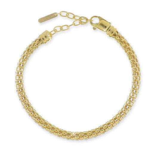 Bracciale catena fope in argento dorato UNOAERRE