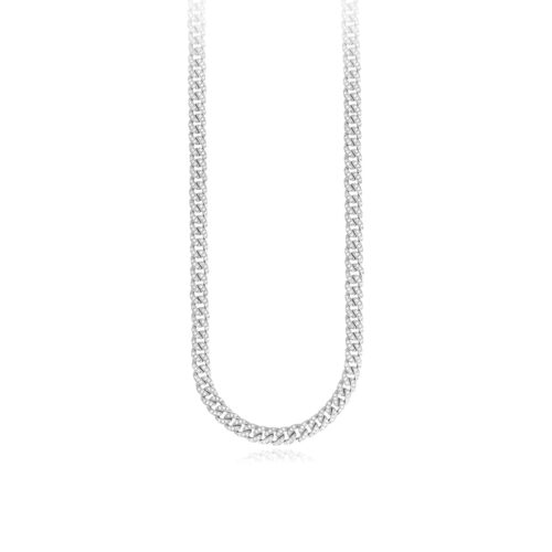Collana Mabina in argento con zirconi