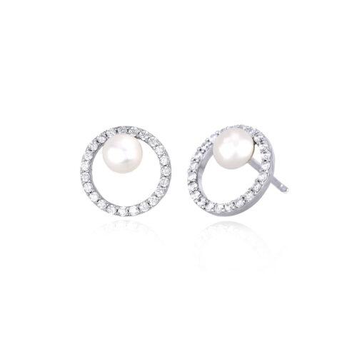 Orecchini Mabina a cerchio con perla