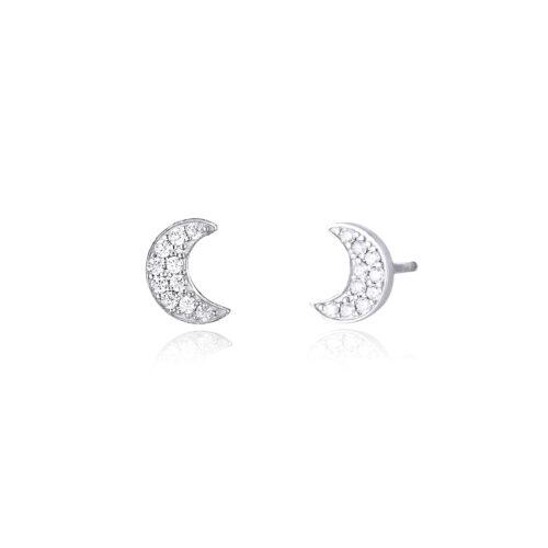 Orecchini Mabina con Luna in argento e zirconi