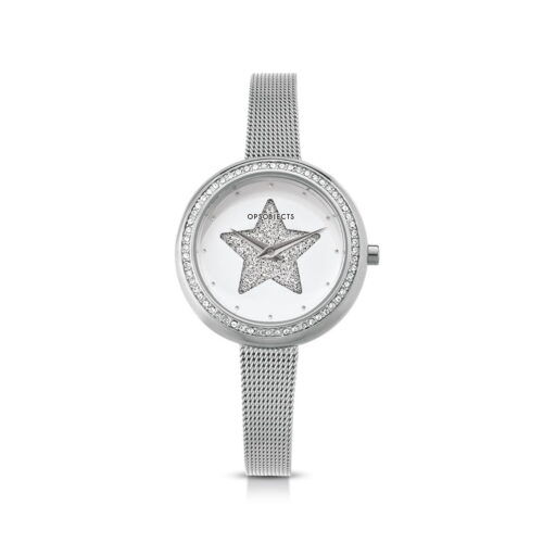 Orologio Ops Objects Stella Glitter Bianco