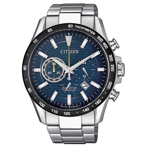 Orologio Watch Citizen Cronografo Titanio Blu Uomo