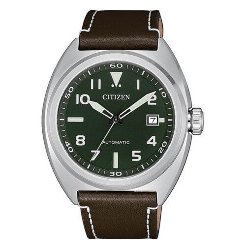 Orologio Citizen Automatico Verde e Marrone NJ0100-38X