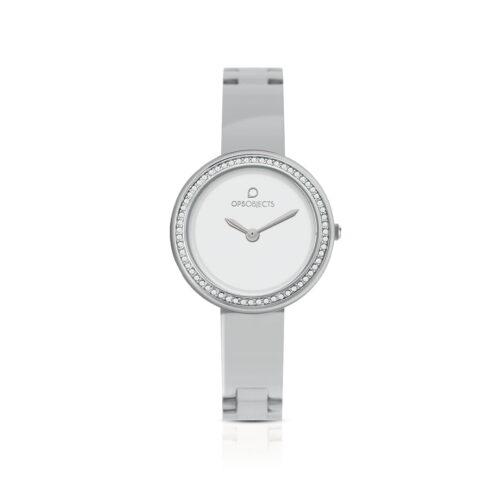 Orologio OPS Objects Zirconi Bianco