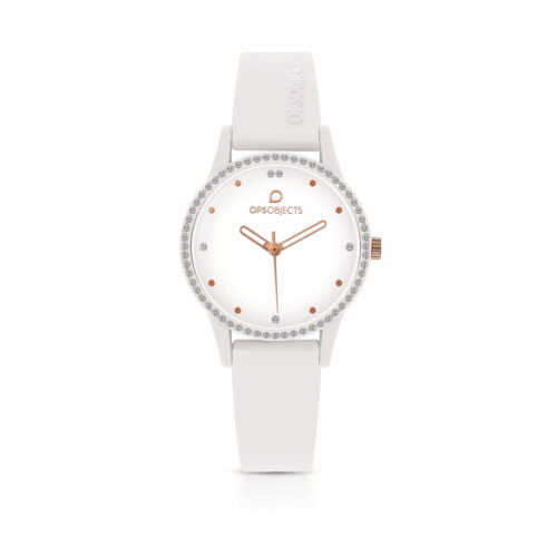 Orologio Ops Object Bianco Silicone