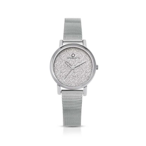 Orologio Ops Objects Glitter Argentato