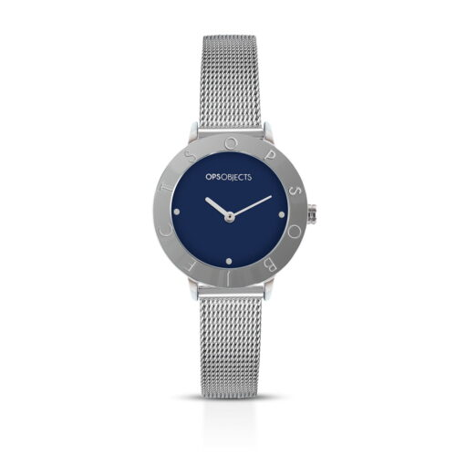 Orologio Ops Objects Blu Argentato The One